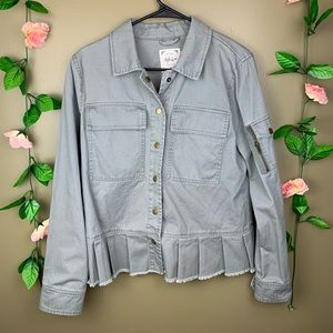 Style & Co Button Up Jacket